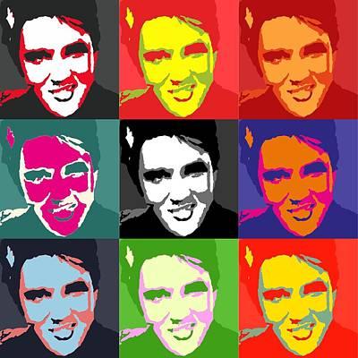 Painting - Elvis Presley Images by Robert Margetts