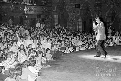 Elvis Presley In Concert At The Fox Theater Detroit 1956 Print by The Harrington Collection