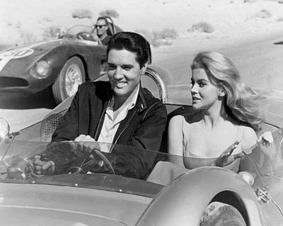Elvis Presley In Film Art Print