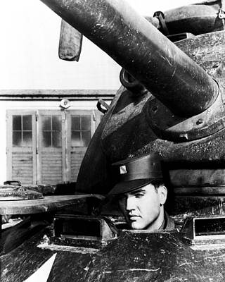 Movie Star Photograph - Elvis Presley In Tank by Retro Images Archive