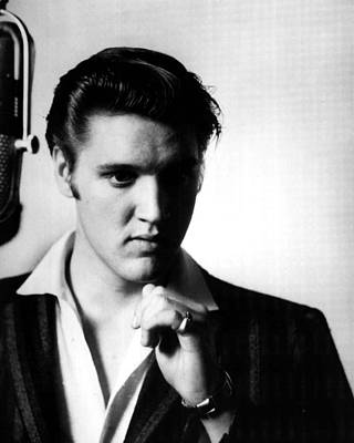 Graceland Photograph - Elvis Presley In The Studio by Retro Images Archive