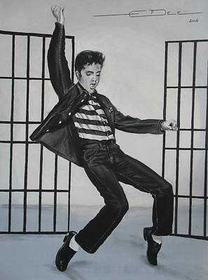 Elvis Presley Jailhouse Rock Art Print by Eric Dee