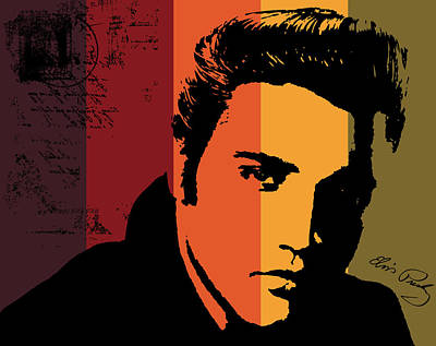 Elvis Presley Art Print by Kenneth Feliciano