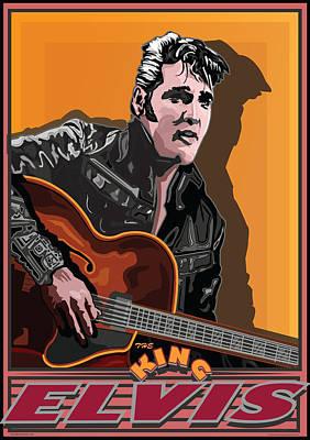 Elvis Presley Art Print by Larry Butterworth