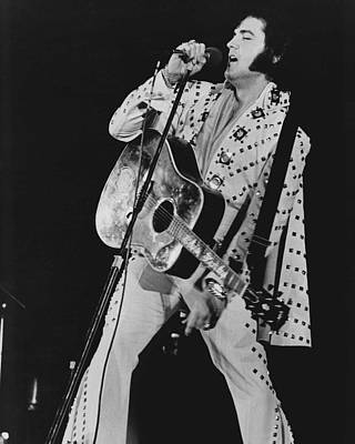 King Of Rock And Roll Photograph - Elvis Presley Sings by Retro Images Archive