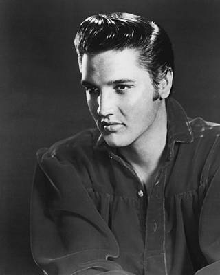 Graceland Photograph - Elvis Presley Looks Into The Distance by Retro Images Archive