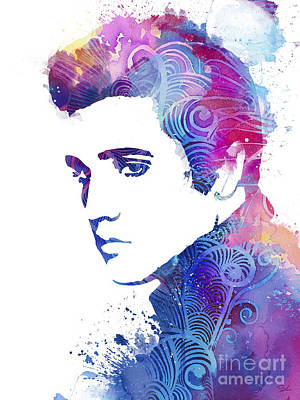 Elvis Presley Painting - Elvis Presley by Watercolor Girl
