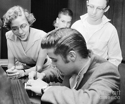 Elvis Presley Meeting Fans 1956 Art Print by The Harrington Collection