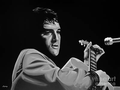 Music Mixed Media - Elvis Presley by Meijering Manupix