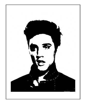 Photograph - Elvis Presley- Black And White Study by Doc Braham