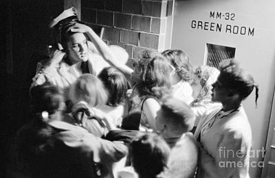 Elvis Presley Photograph - Elvis Presley Mobbed By Adoring Fans 1956 by The Harrington Collection