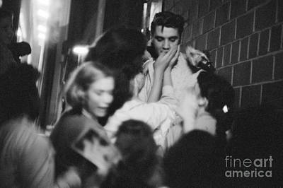 Elvis Presley Photograph - Elvis Presley Mobbed By Fans 1956 by The Harrington Collection