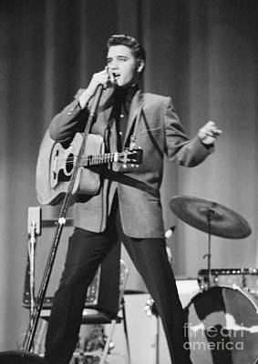 Elvis Presley On Stage 1956 Art Print