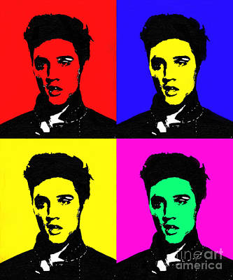 Elvis Presley - Painted Art Print by Doc Braham