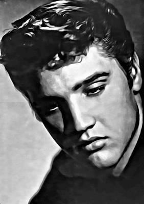 Painting - Elvis Presley Painting by Florian Rodarte