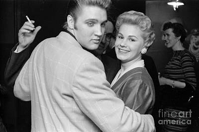 Elvis Presley Photograph - Elvis Presley Parties With Fans 1956 by The Harrington Collection