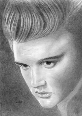 Drawing - Elvis Presley by Pat Moore