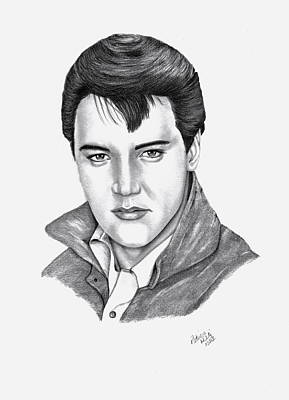Drawing - Elvis Presley by Patricia Hiltz