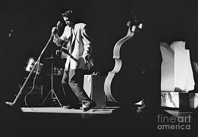 Musicians Photo Rights Managed Images - Elvis Presley Performing at the Fox Theater 1956 Royalty-Free Image by The Harrington Collection