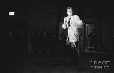 Singer Photograph - Elvis Presley Performing In Dayton In 1956 by The Harrington Collection