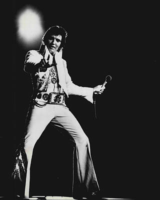 Elvis Presley On Stage Print by Retro Images Archive