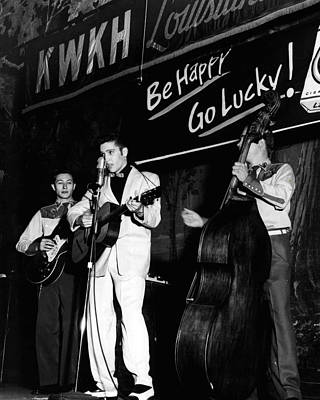 Elvis Presley Playing Radio Event Print by Retro Images Archive