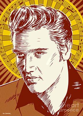 Elvis Presley Pop Art Art Print
