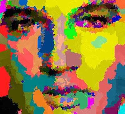 Painting - Elvis Presley by Samuel Majcen
