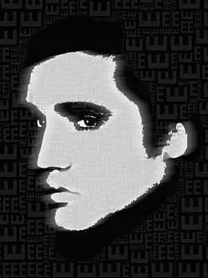 Elvis Presley Silhouette On Black Original by Tony Rubino