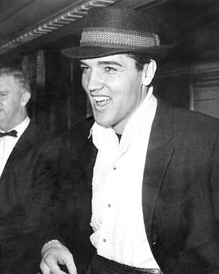 Movie Star Photograph - Elvis Presley Smiling by Retro Images Archive