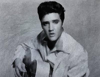 Elvis Aaron Presley Painting - Elvis Presley The King by Dan Sproul