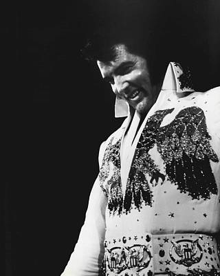 King Of Rock And Roll Photograph - Elvis Presley The King by Retro Images Archive