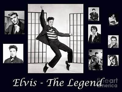 Elvis Presley - The Legend Art Print
