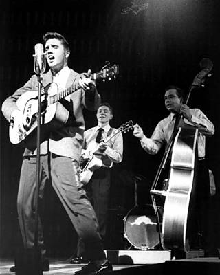 Elvis Presley With Band Print by Retro Images Archive