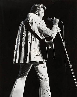 Sex Symbol Photograph - Elvis Presley At Mic by Retro Images Archive