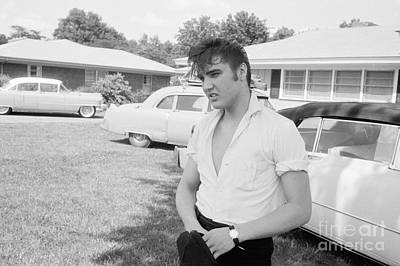Elvis Presley With His Cadillacs Art Print