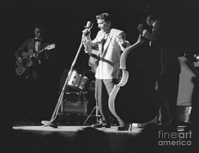 Moore Photograph - Elvis Presley With Scotty Moore And Bill Black 1956 by The Harrington Collection