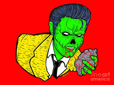 Painting - elvis presley Zombified by Gary Niles