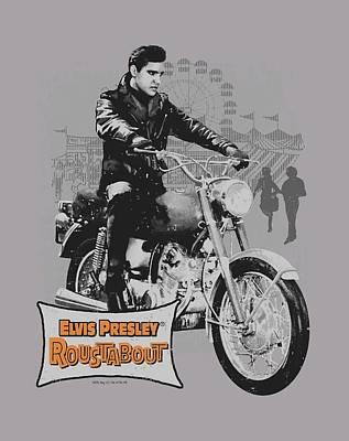 The King Digital Art - Elvis - Roustabout Poster by Brand A