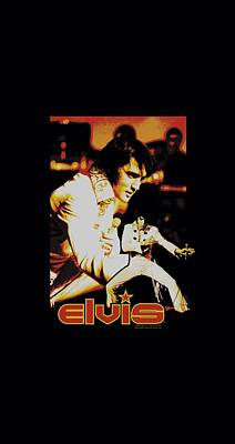 The King Digital Art - Elvis - Showman by Brand A
