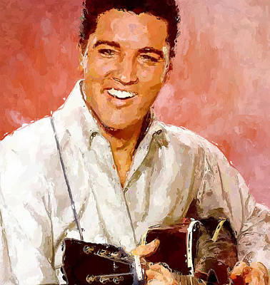 Concert Digital Art - Elvis Singing 3 by Yury Malkov