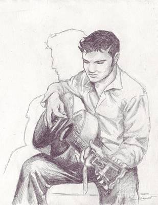 Drawing - Elvis Sketch by Samantha Geernaert
