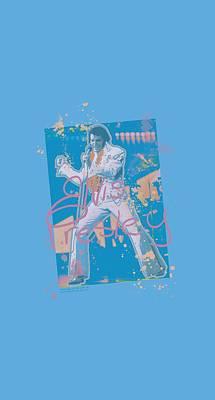 The King Digital Art - Elvis - Splatter Hawaii by Brand A