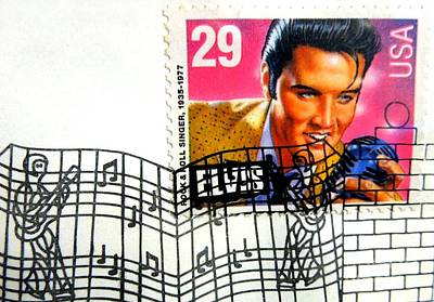 Photograph - Elvis Stamp With First Day Postmark by Renee Trenholm