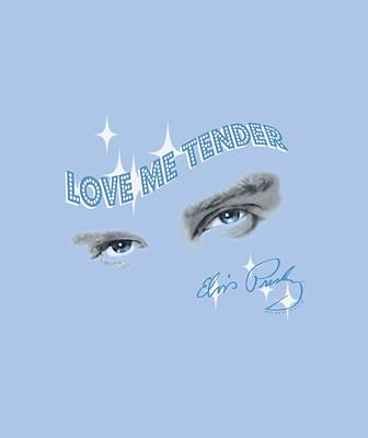 The King Digital Art - Elvis - Tender Eyes by Brand A
