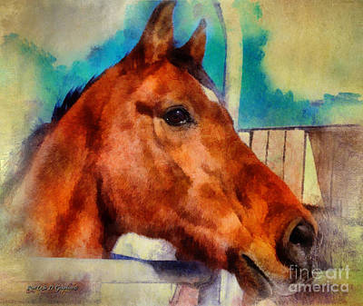 Digital Art - Elvis The Arabian by Rhonda Strickland
