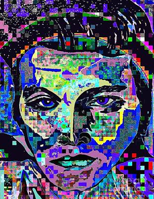 Painting - Elvis The King Abstract by Saundra Myles
