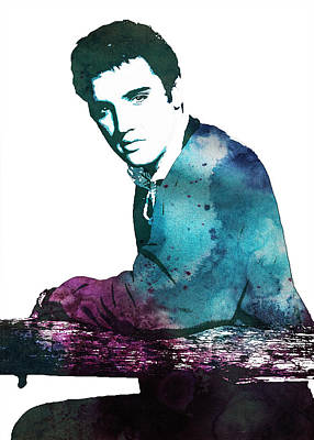 Elvis Painting - Elvis The King by Celestial Images