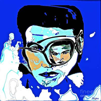 Painting - Elvis The King Incognito by Saundra Myles