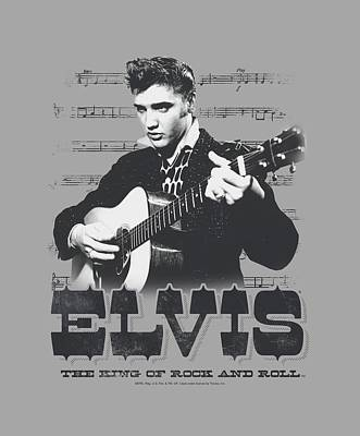 King Of Rock Digital Art - Elvis - The King Of by Brand A